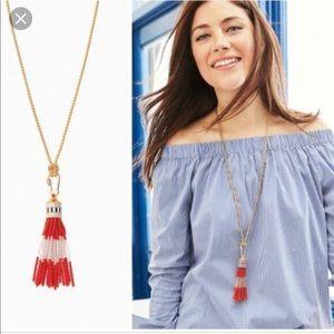 Stella & Dot Brio Tassel Necklace w/Box